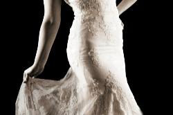 Brautmode Leer